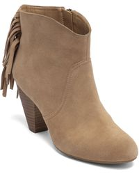 Jessica simpson Octave 2 Suede Leather Ankle Boots in Brown | Lyst