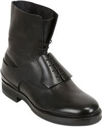 Diego Vanassibara Mahogany Wood Leather Boots - Lyst