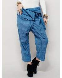 Free People | Womens One And Only Wrap Pant | Lyst