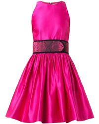 Christopher Kane Belted Duchess-Satin Dress - Lyst