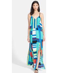 Tracy Reese Print Flyaway Silk Maxi Dress - Lyst