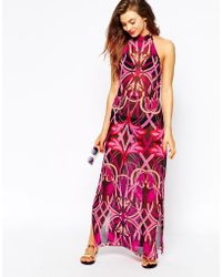 Ted Baker Printed Beach Maxi Dress - Lyst