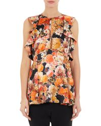 Givenchy Floral Butterfly Peplum Top - Lyst