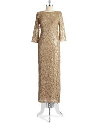 Alex Evenings Sequin And Lace Gown - Lyst