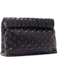 Marie Turnor | Studded Leather Lunch Bag Clutch | Lyst