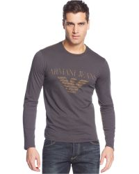 Armani Jeans Big Eagle Logo T-shirt - Lyst