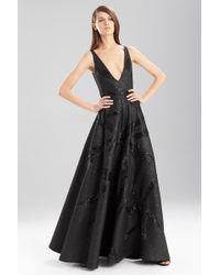 Natori | black Lacquer Basket Weave Vneck Dress | Lyst