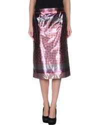 Burberry Prorsum 3/4 Length Skirt multicolor - Lyst