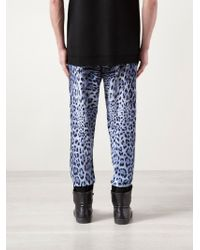 Sibling - Print Leopard Jogger Trousers - Lyst
