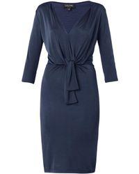 Saloni Mariana Jersey Dress blue - Lyst