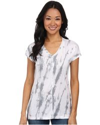 Calvin Klein Jeans Extended Sleeve Printed V-Neck Tee - Lyst