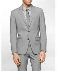 Calvin Klein White Label X Fit Ultra Slim Fit Silver Fine Stripe Suit Jacket - Lyst