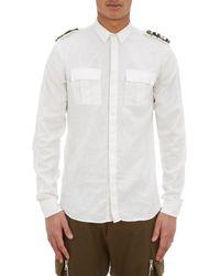 Balmain Military Shirt - Lyst