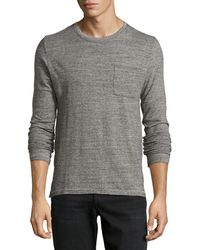Ag Adriano Goldschmied Seamed Crew Neck Tee - Lyst