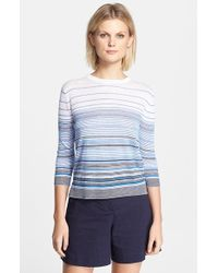 Theory 'Rainee E' Stripe Sweater - Lyst