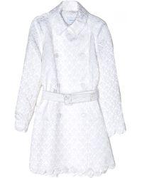 Simone Rocha White Brocade Trench Coat - Lyst