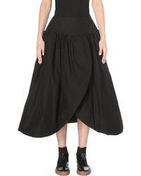 Yohji Yamamoto Structured Cotton Skirt Black - Lyst