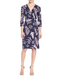 Diane von Furstenberg | New Julian Two Silk Wrap Dress | Lyst