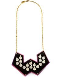 Sarah Angold Studio Black Spiked Necklace - Lyst
