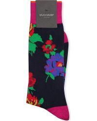 Duchamp Floral Mid-calf Socks - Lyst