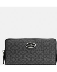 Coach Accordion Zip Wallet In Signature Jacquard - Lyst