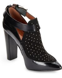 Rebecca Minkoff Gio Too Leather  Suede Studded Ankle Boots - Lyst