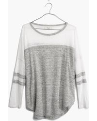 Madewell Frontrunner Tee in Colorblock - Lyst