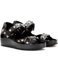 Balenciaga Studded Leather Platforms - Lyst