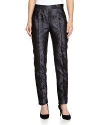 Carolina Herrera Jacquard Slim-Leg Pants - Lyst