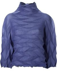 Issey Miyake 'Me' Geometric Pleated Top - Lyst
