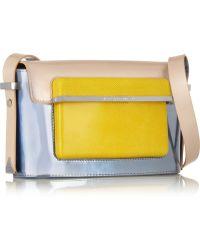 Mary Katrantzou Color-Block Leather Shoulder Bag - Lyst