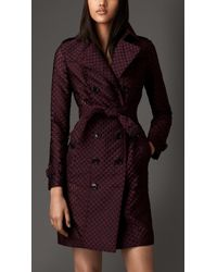 Burberry Fil Coupé Trench Coat - Lyst