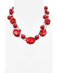 Dabby Reid - 'ronnie Fabulous' Torsade Necklace - Coral - Lyst