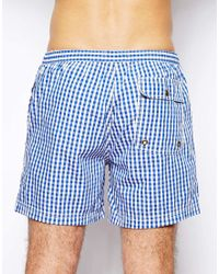 Jack Wills - Swim Shorts Cobalt Gingham - Lyst