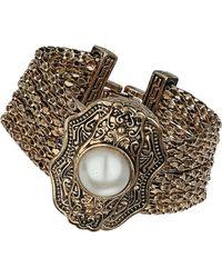 Topshop Engraved Multi Row Bracelet - Lyst