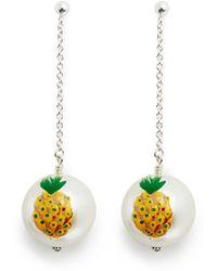 Venessa Arizaga 'Piña' Pineapple Drop Earrings - Lyst