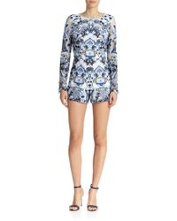 Alexis Rilay Embroidered Short Jumpsuit - Lyst