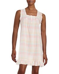 Miss Elaine - Ruffle Accented Chemise - Lyst