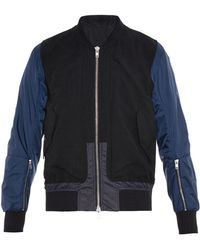 Tim Coppens Ma1 Contrast Panels Bomber Jacket - Lyst