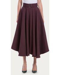 Bally Midi Skirt red - Lyst