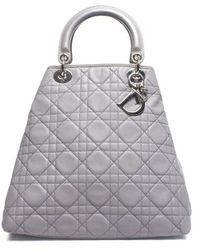 Dior Pre-Owned Lambskin Medium Soft Lady Dior Tote Bag - Lyst