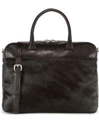 DKNY - Haircalf Leather Briefcase - Lyst