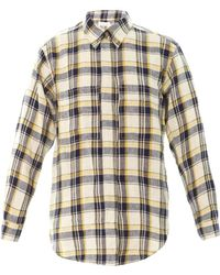 Etoile Isabel Marant Upton Flannel Check Boyfriend Shirt - Lyst