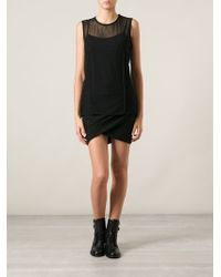 Ann Demeulemeester Sleeveless Sheer Top - Lyst