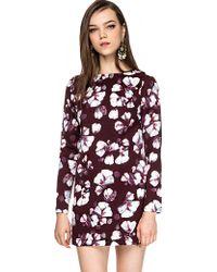 Pixie Market Long Sleeve Floral Dress - Lyst