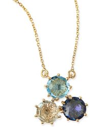KALAN by Suzanne Kalan - Multi-stone Blue Cluster Pendant Necklace - Lyst