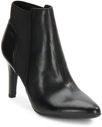Franco Sarto Crysalis Leather Ankle Boots - Lyst