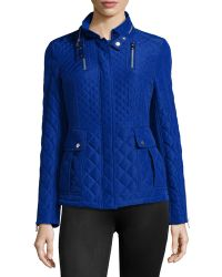French Connection Quilted Puffer Jacket - Lyst