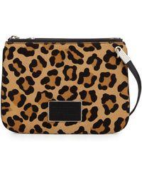 Marc By Marc Jacobs - Ligero Leopard-print Calf Hair Double Percy Crossbody Bag - Lyst