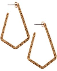 Lucky Brand - Triangle Chain Drop Earrings - Lyst